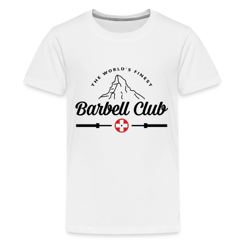 The world's finest Barbell Club _black - Teenager Premium T-Shirt