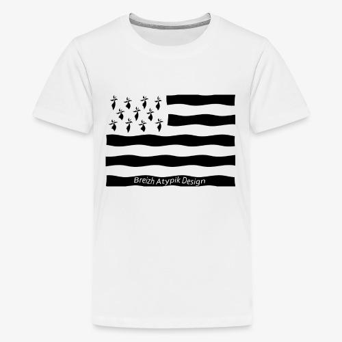 Gwenn ha Du-Noir fond transparent - T-shirt Premium Ado