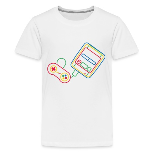 Super NES - Couleur - T-shirt Premium Ado