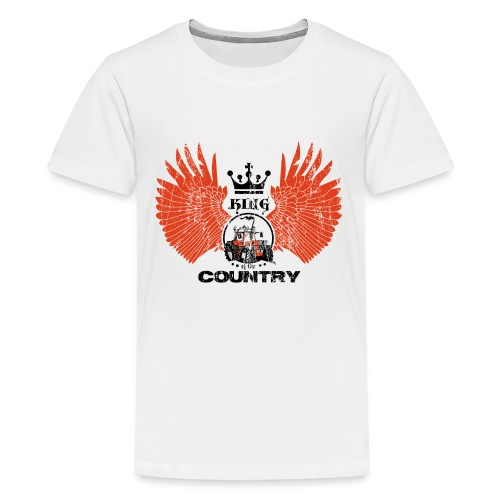 WINGS King of the country zwart rood op wit - Teenager Premium T-shirt