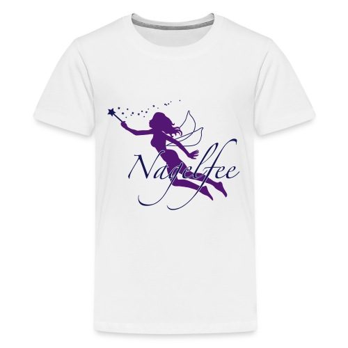 Nagelfee vom Werbeprofi für Dein Nagelstudio - Teenager Premium T-Shirt