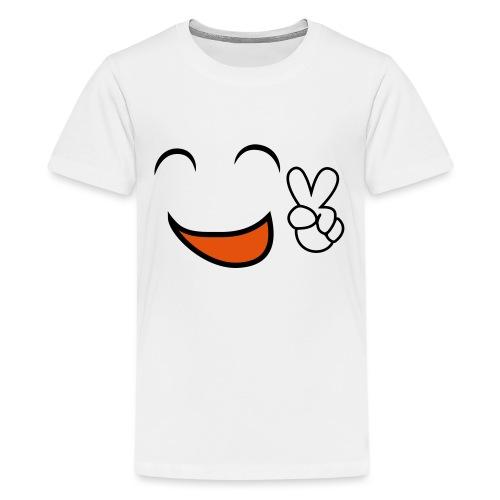 happy face and peace emoji - Camiseta premium adolescente