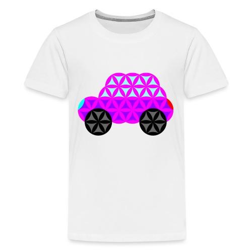 The Car Of Life - 01, Sacred Shapes, Purple. - Teenage Premium T-Shirt