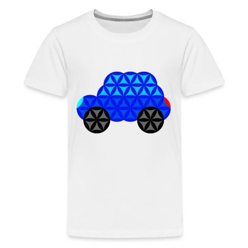 The Car Of Life - M01, Sacred Shapes, Blue/R01. - Teenage Premium T-Shirt