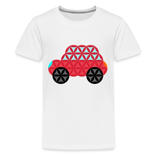 The Car Of Life - M02, Sacred Shapes, Red/186 - Teenage Premium T-Shirt