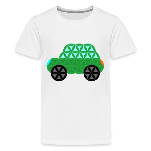 The Car Of Life - M01, Sacred Shapes, Green/363 - Teenage Premium T-Shirt