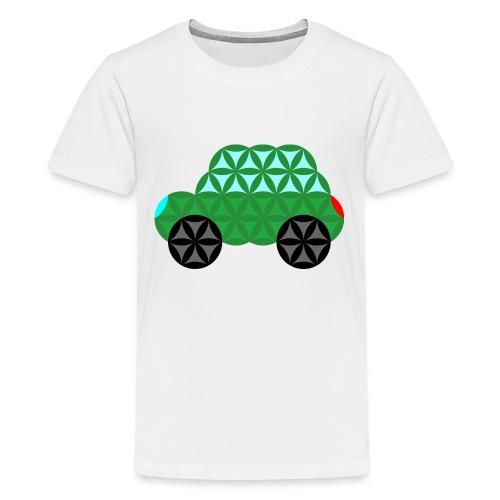 The Car Of Life - M02, Sacred Shapes, Green/363 - Teenage Premium T-Shirt