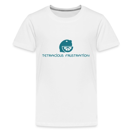 Coloured Tetracious Logo - Teenage Premium T-Shirt