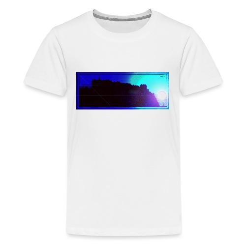 Silhouette of Edinburgh Castle - Teenage Premium T-Shirt