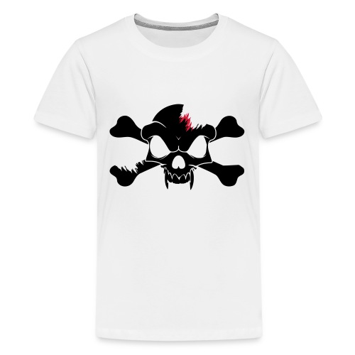 SKULL N CROSS BONES.svg - Teenage Premium T-Shirt