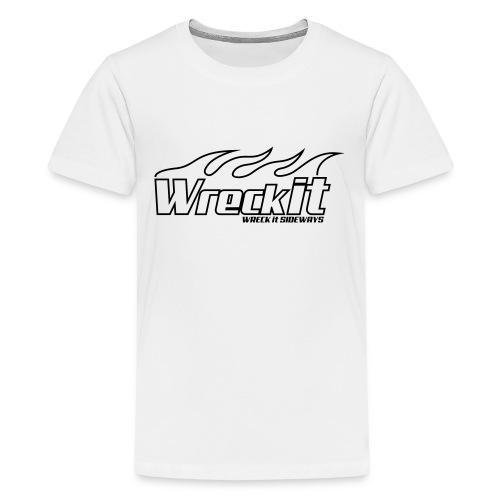 wreckit flames - Teenager Premium T-shirt