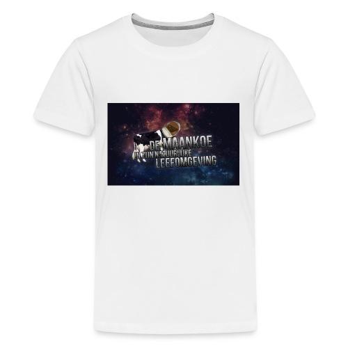 maankoe met agtergront - Teenager Premium T-shirt