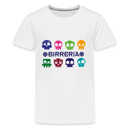 Kids color Skulls - Teenager Premium T-Shirt
