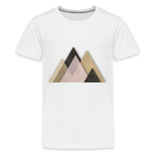 Berge abstrakt - Teenager Premium T-Shirt