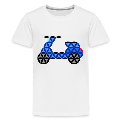 The Motorbike Of Life - Sacred Shape - Teenage Premium T-Shirt