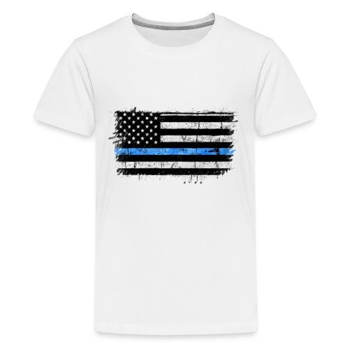 police back the blue flag - Camiseta premium adolescente