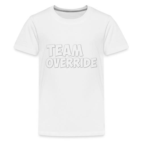 Team Override T-Shirt grey Youtube - Teenage Premium T-Shirt