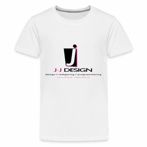 LOGO_J-J_DESIGN_FULL_for_ - Teenager premium T-shirt