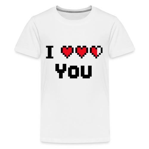 I pixelhearts you - Teenager Premium T-shirt