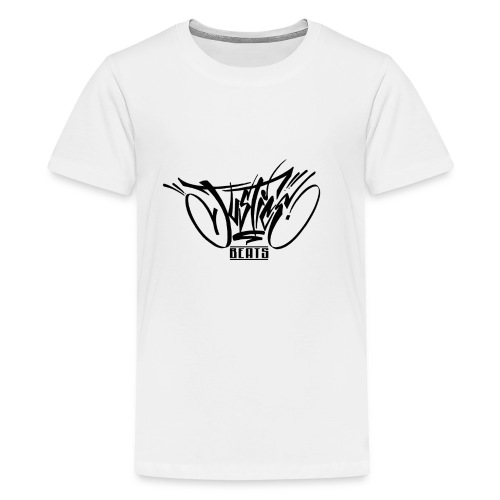 JusticeBeats BLACK - Premium T-skjorte for tenåringer