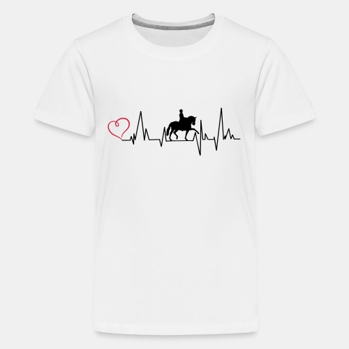 Heartbeat Dressurreiterin klassisch Herz - Teenager Premium T-Shirt