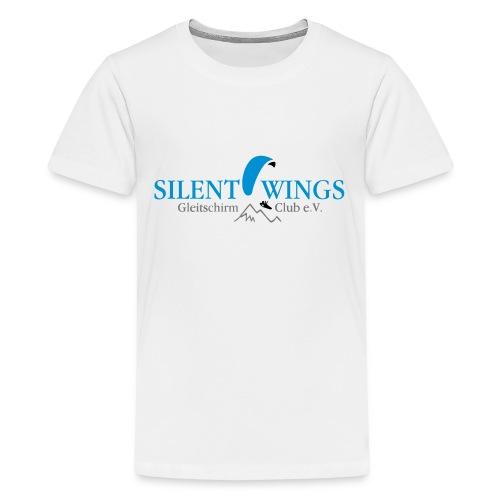 Silent Wings Logo 3 farbig - Teenager Premium T-Shirt
