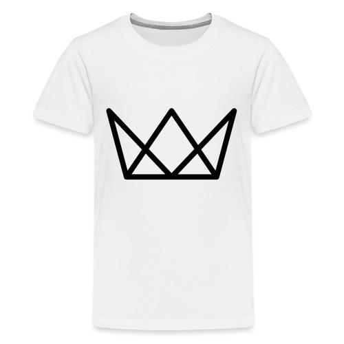 TKG Krone schwarz CMYK - Teenager Premium T-Shirt