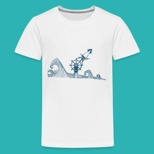 Carta_timone_blu-png - Maglietta Premium per ragazzi