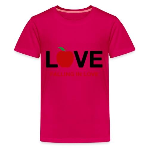 Falling in Love - Black - Teenage Premium T-Shirt