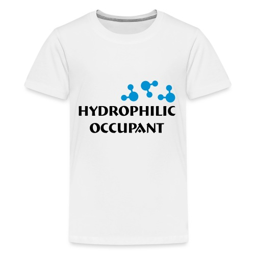 Hydrophilic Occupant (2 colour vector graphic) - Teenage Premium T-Shirt