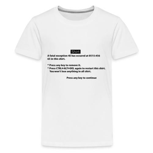 BSOD - Blue Screen of Death - Windows - T-shirt Premium Ado