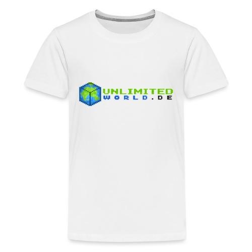 UW Logo mit schwarzem DE - Teenager Premium T-Shirt