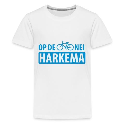 Op de fiets nei Harkema t-shirt vrouwen - Teenager Premium T-shirt