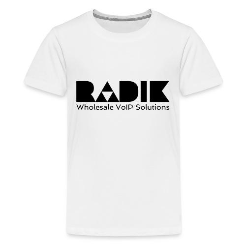 radik logo 1kleur wholesalevoipsolutions - Teenager Premium T-shirt