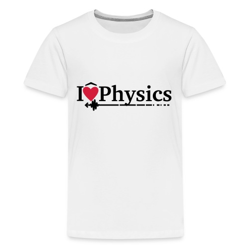 I heart physics - Teenage Premium T-Shirt