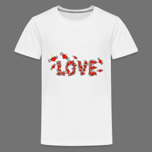Flying Hearts LOVE - Teinien premium t-paita