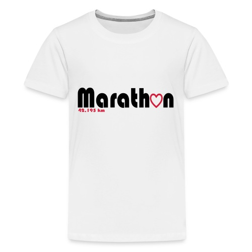 I love marathons - Teenager Premium T-Shirt