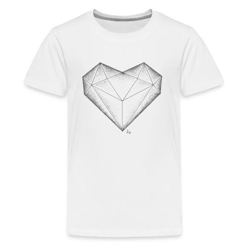 Herz Diamant - Teenager Premium T-Shirt
