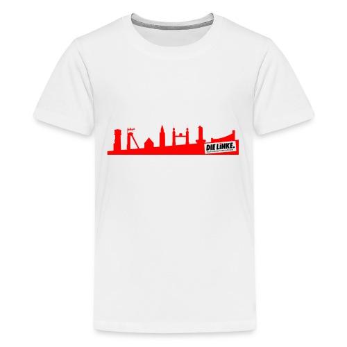 DIE LINKE SV Castrop Rauxel Skyline rot - Teenager Premium T-Shirt