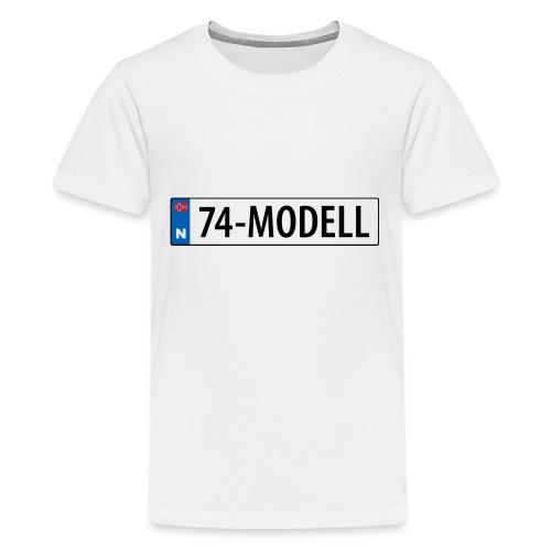 74-modell kjennemerke - Premium T-skjorte for tenåringer