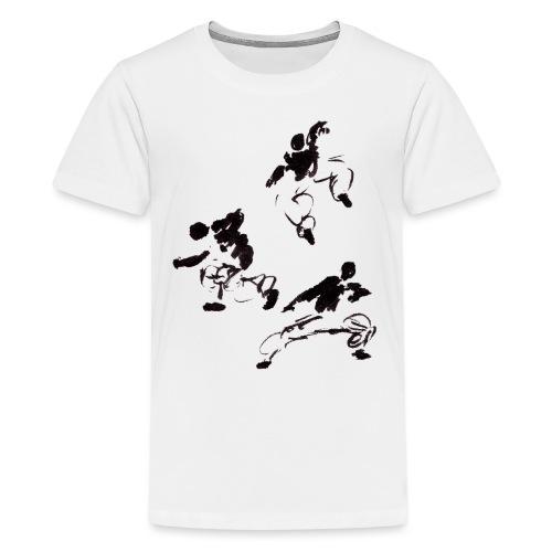 3 kungfu - Teenage Premium T-Shirt