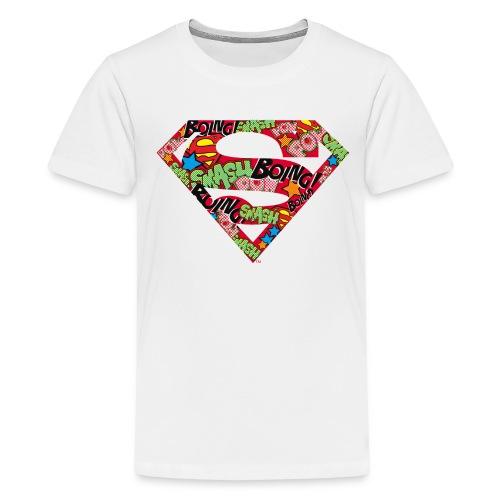 DC Comics Superman Logo Mit Lautmalerei - Teenager Premium T-Shirt