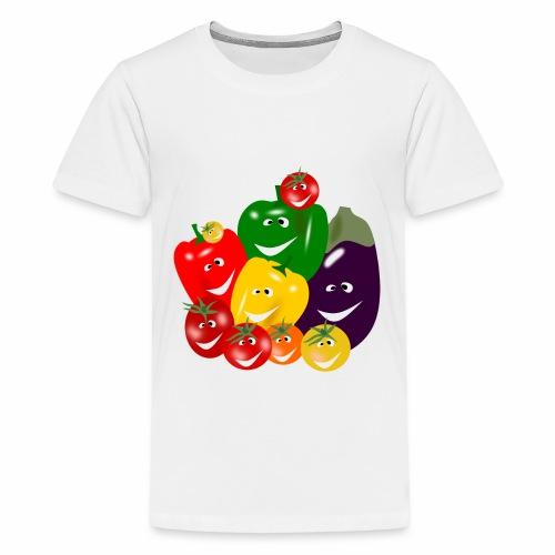 I love vegetables - Teenage Premium T-Shirt