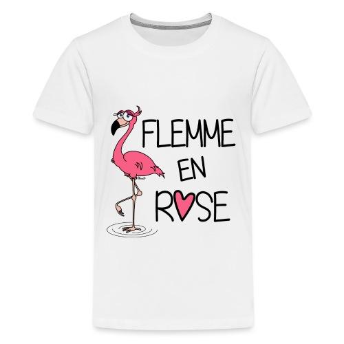 Flamant Rose / Flemme en Rose - T-shirt Premium Ado