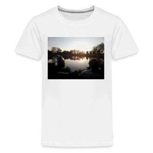 Motorbike at lake - Teenager Premium T-Shirt