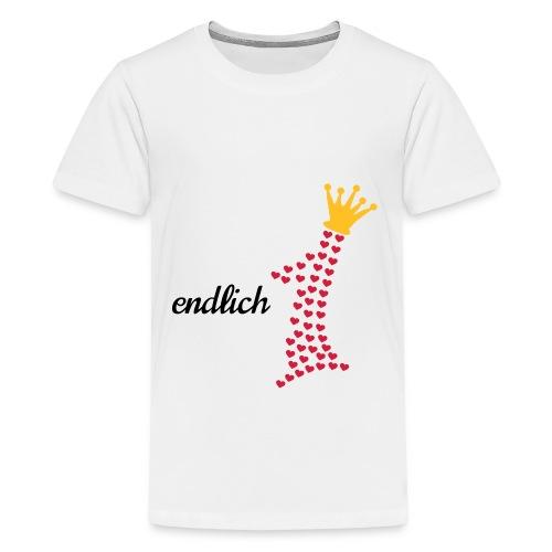 erster Geburstag mit Krone und Herzen endlich 1 - Teenager Premium T-Shirt