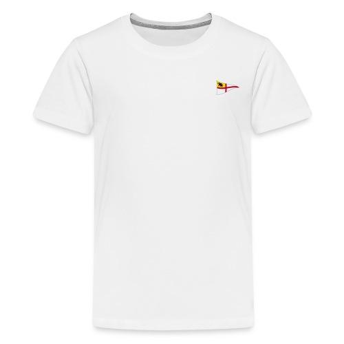 ROYC Logo 4 Farb Weiss SIMPLE - Teenager Premium T-Shirt
