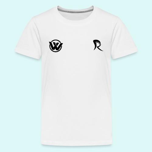 WAVE LOGO BLACK - Teenage Premium T-Shirt