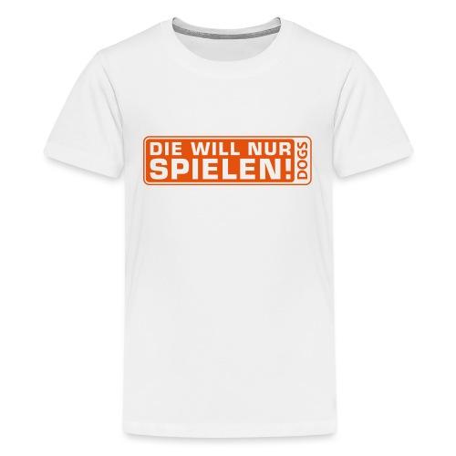 Martin Rütter - Die will nur spielen - Frauen Flo - Teenager Premium T-Shirt