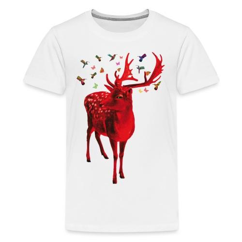 01 Schicker Hirsch rot Hirschgeweih - Teenager Premium T-Shirt